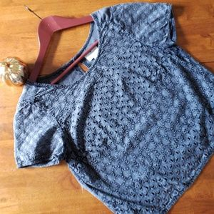 American Eagle crop blouse size small
